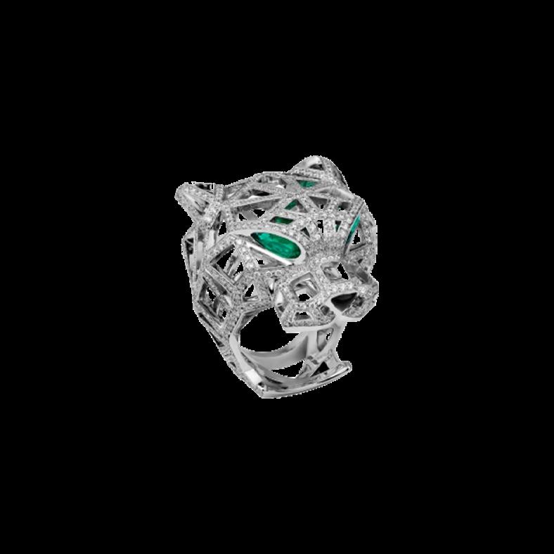 Panthère de Cartier White Gold Full Pavé Ring