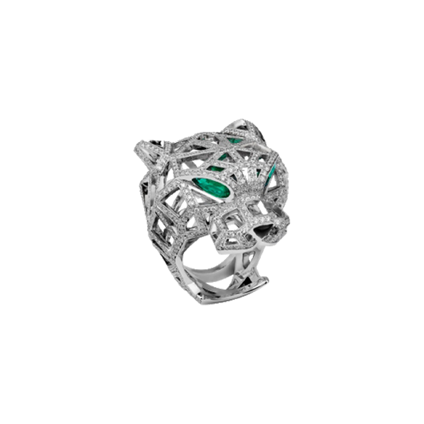 Panthère de Cartier White Gold Full Pavé Ring