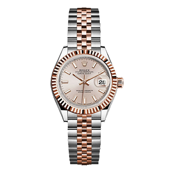 Rolex Datejust Rolesor Everose Gold Salmon Index Dial