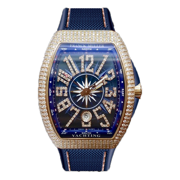 Franck Muller Vanguard Yachting Rose Gold Full Diamonds