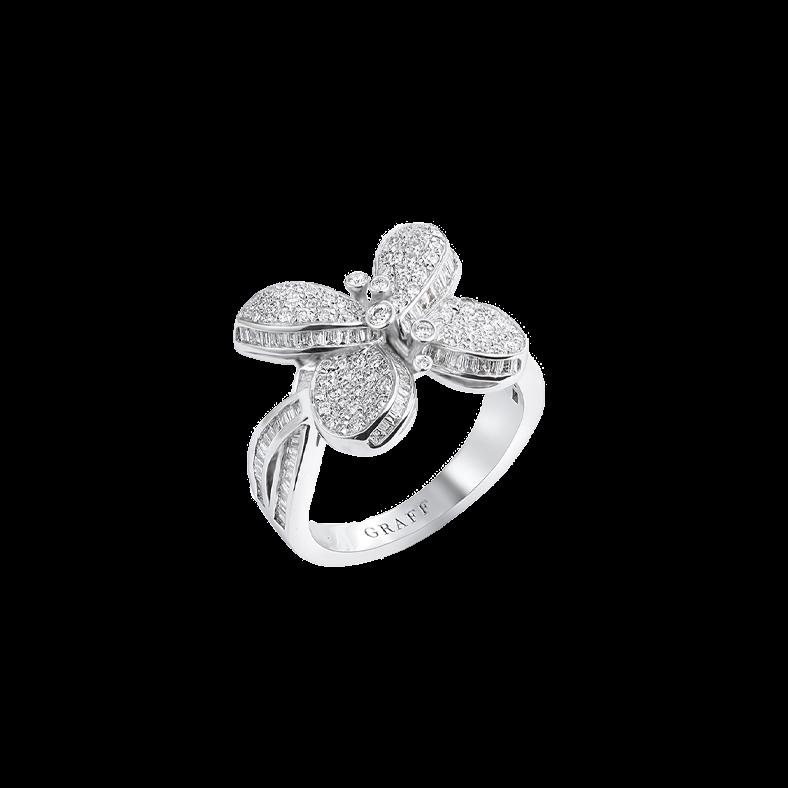 Graff Princess Butterfly With Pavé Diamonds Ring