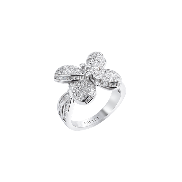 Graff Princess Butterfly With Pavé Diamonds Ring