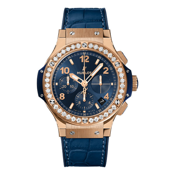 Hublot Big Bang Chronograph King Gold Blue Diamond