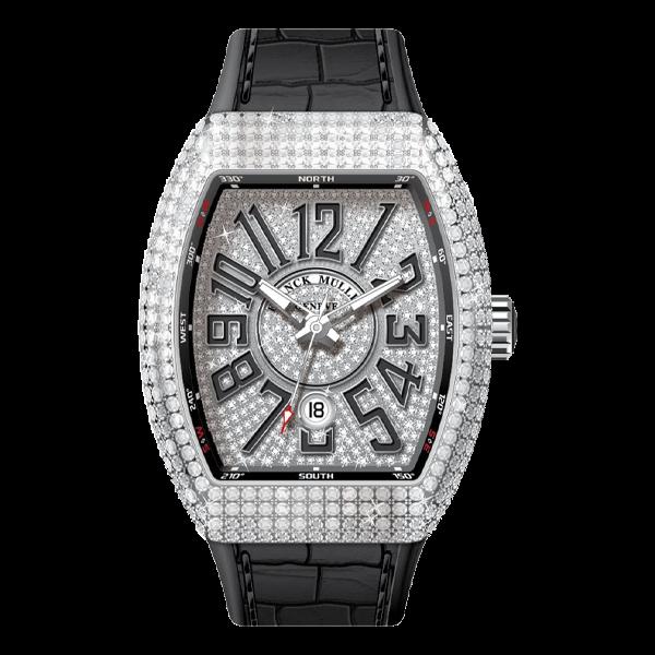 Franck Muller Vanguard Steel Full Diamonds