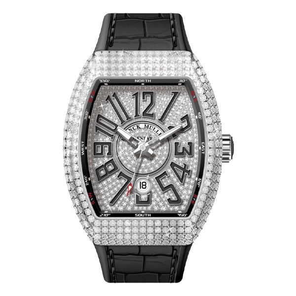 Franck Muller Vanguard Steel Full Diamonds