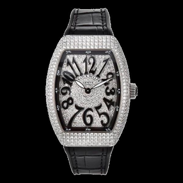 Franck Muller Vanguard V32 Steel Black Full Diamonds