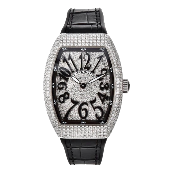 Franck Muller Vanguard V32 Steel Black Full Diamonds