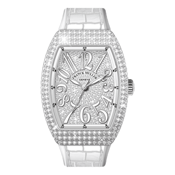 Franck Muller Vanguard V32 Steel White Full Diamonds