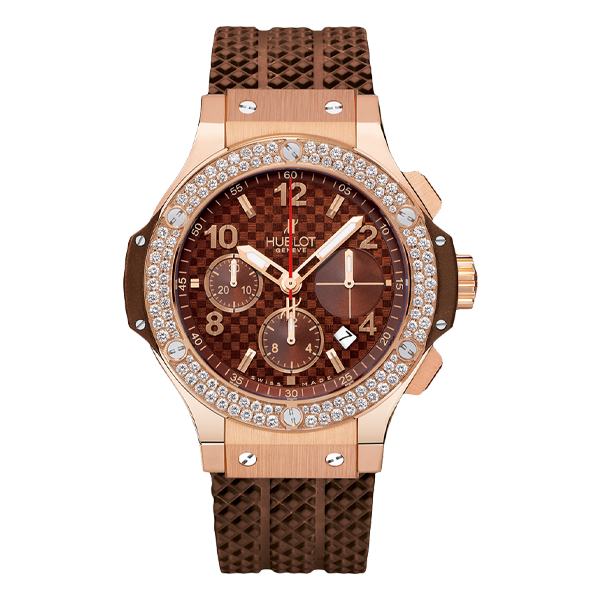 Hublot Big Bang Chronograph King Gold Capuchino Diamonds