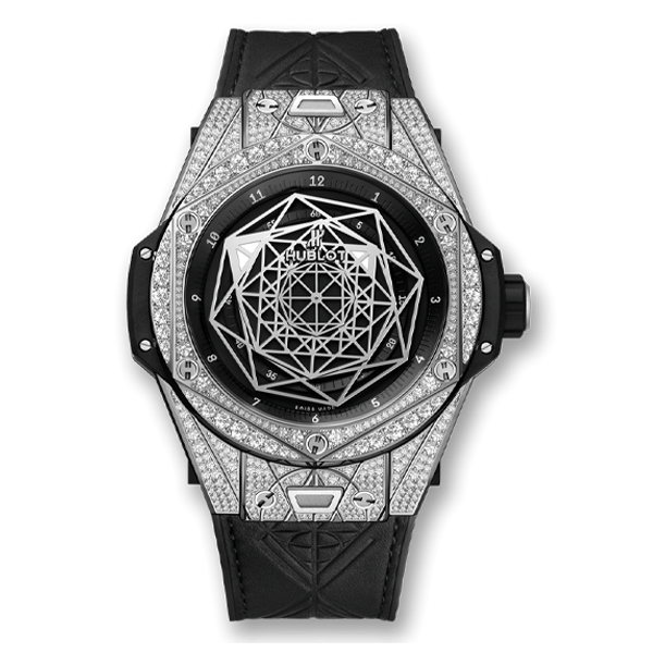Hublot Big Bang Sang Bleu I Steel Pavé