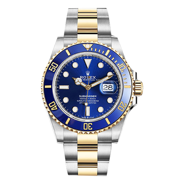 Rolex Submariner Date Rolesor Yellow Gold Blue Bezel & Dial - New Model 2020