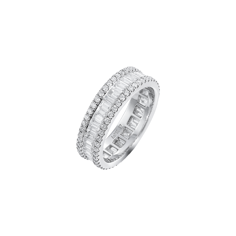 Tiffany & Co White Gold Baguette Diamonds Ring